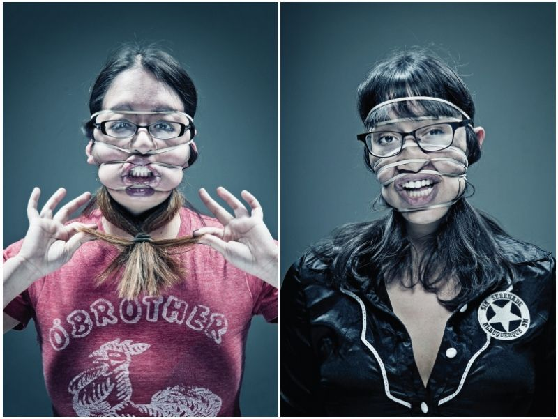 Rubber-Band Portraits Stretch the Limits of Distortion
