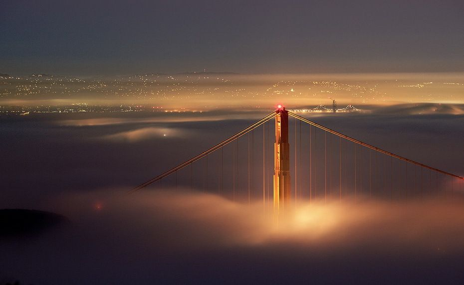 San Francisco in Fog by Terence Chang