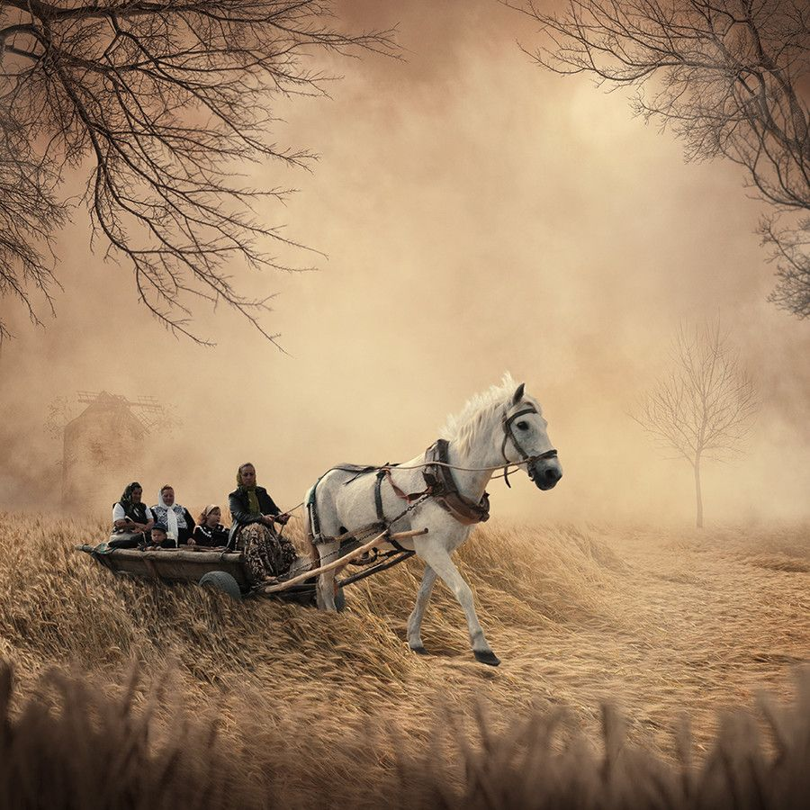 The mill fire by Caras Ionut