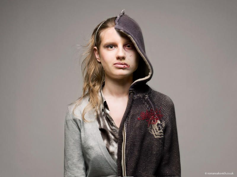 Roman Sakovich's 'Half' Series Shows Before And After Portraits Of Drug Users
