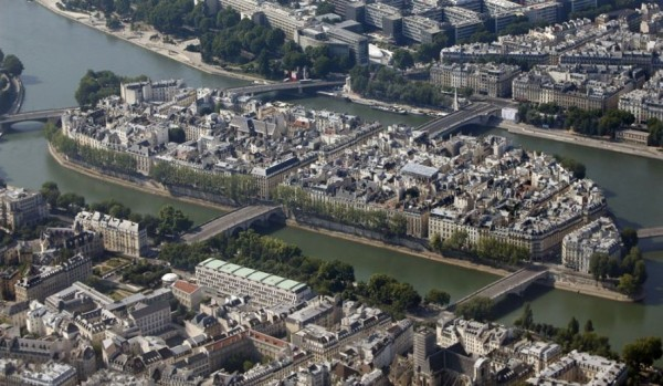 Paris aerial view
