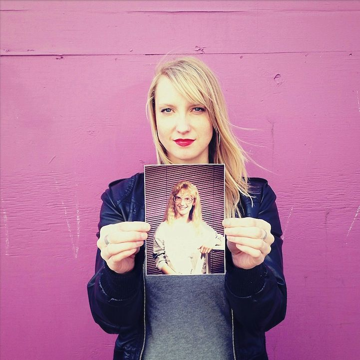 Portraits of People Holding Pictures in their Hands