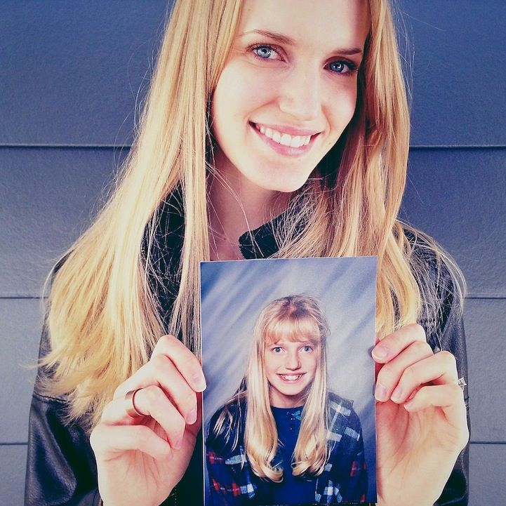 Amazing Portraits of People Holding Pictures from Their Awkward Years