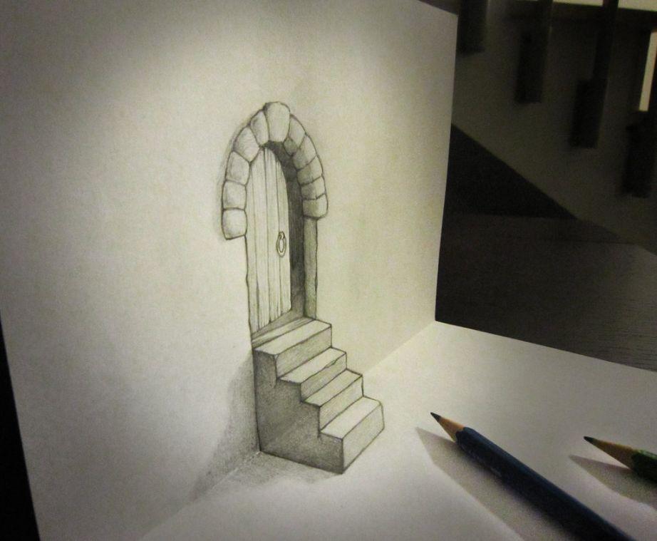 Door and stair anamorphosis