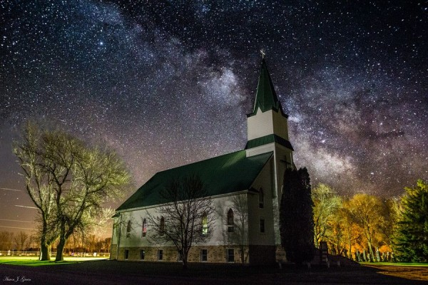 Milky Way Church by Aaron J. Groen
