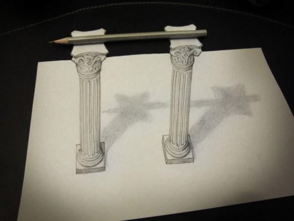 Pencil on columns
