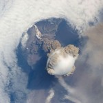 Erupting Volcanoes Photographed from the Space