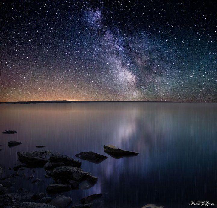 Небо луна ночь звезды