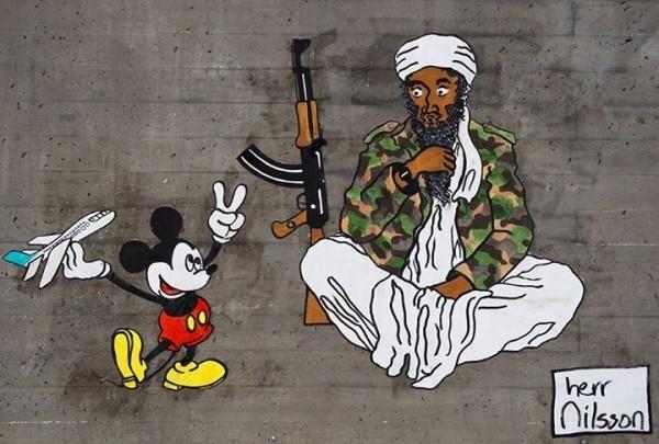 Disney Princesses Get Dangerous in Herr Nilsson's Street Art