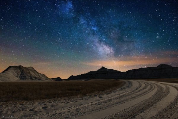 Take a left at the Milky Way by Aaron J. Groen