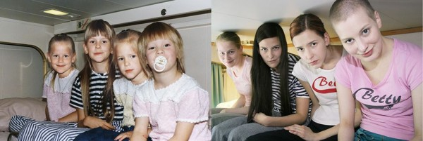 """Photo Series """"Then and Now"""" by Wilma Hurskainen"""