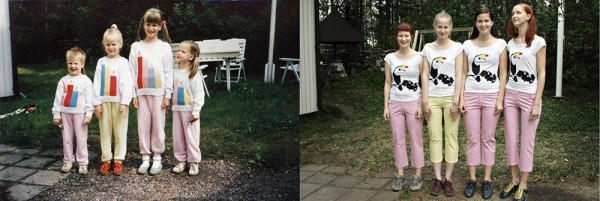 "Photo Series ""Then and Now"" by Wilma Hurskainen"