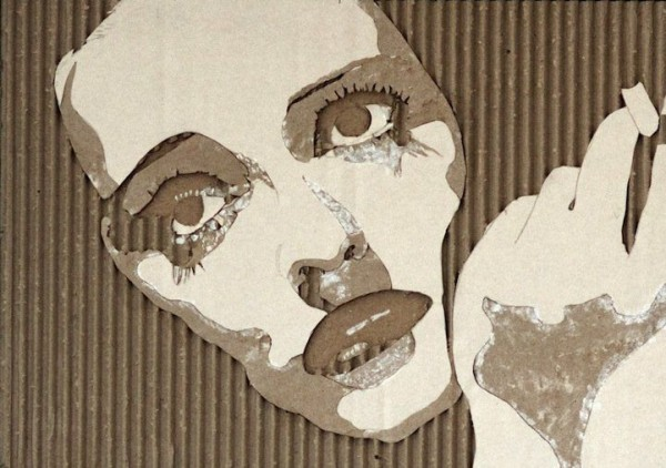 Hollywood Portraits Made Out of Cardboard