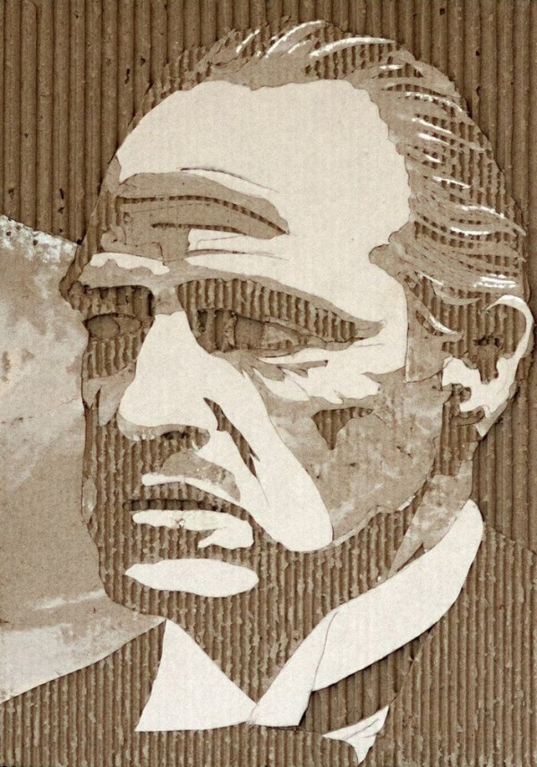 Incredible Celebrity Portraits Made Out of Cardboard