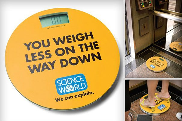 You weight less on the way down