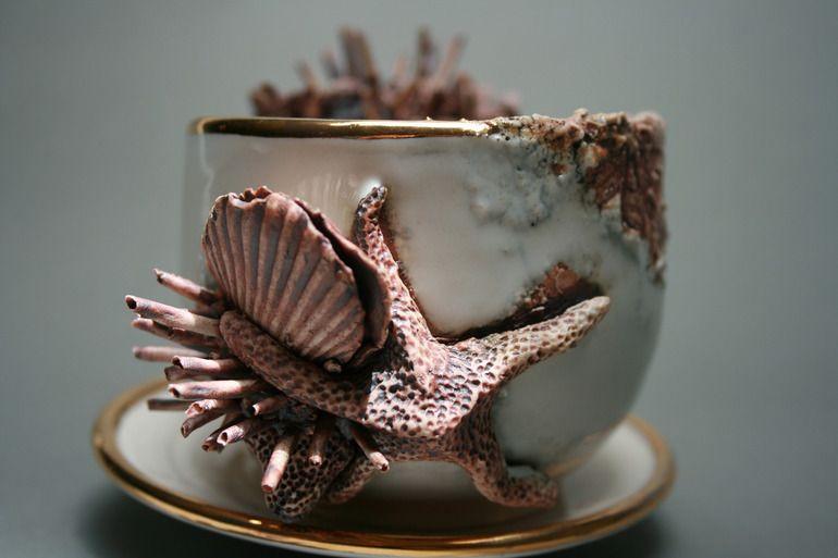 Bottom Feeder Teacup and Saucer