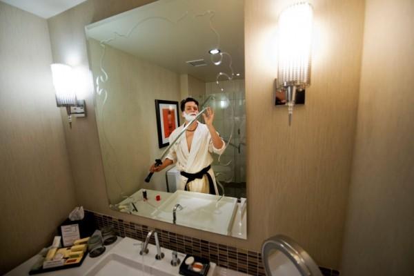 Close Shave - Martial Artist Ken Stouffer