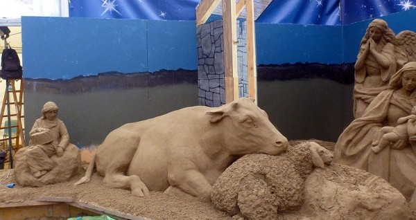 Nativity Sand Sculpture
