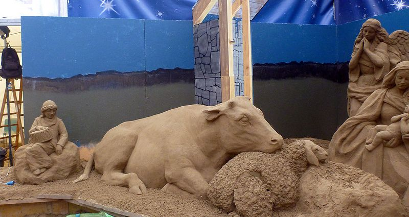 Nativity Sand Sculpture
