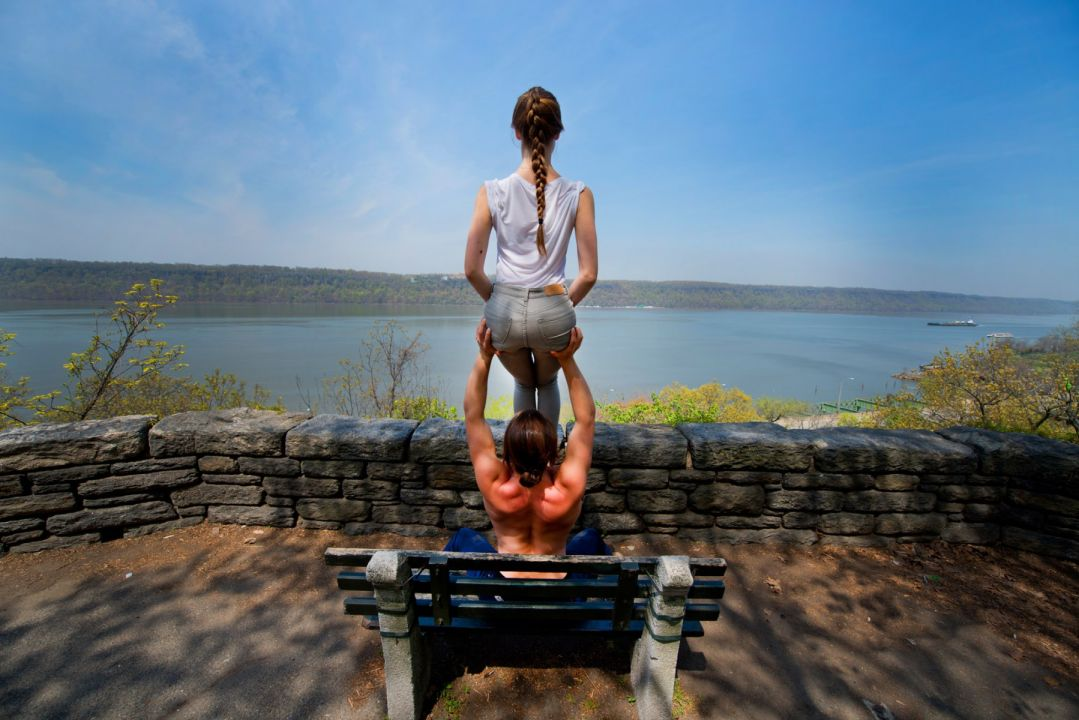 River View - Acro Yoga Specialists Jacob Jonas & Jill Wilson