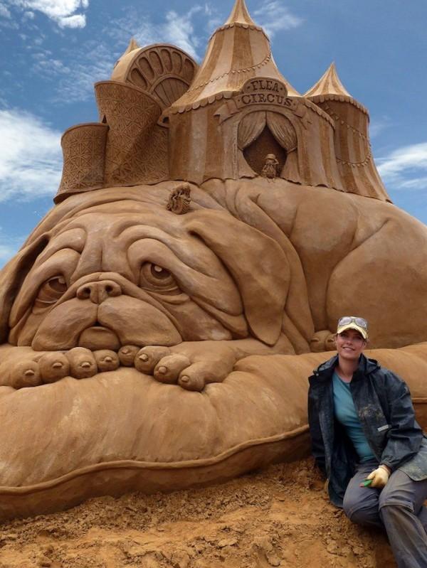 Sand Sculptures by Susanne Ruseler