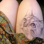 College Student Jody Steel Creates Amazing Doodles on Her Legs!