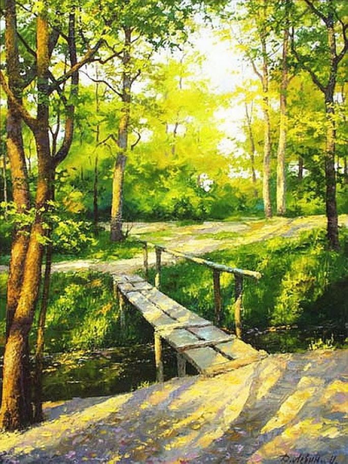 Realistic Acrylic Painting Nature