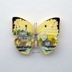 Artist Hasan Kale Paints Amazing Mini Masterpieces on Butterflies, Pasta, Snail Shells and Even Plant Spikes