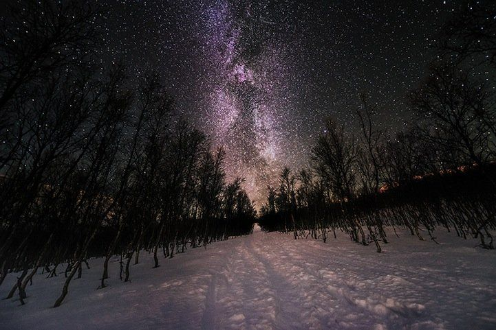 Nightscapes Illuminated by Bright Stars and Galaxies