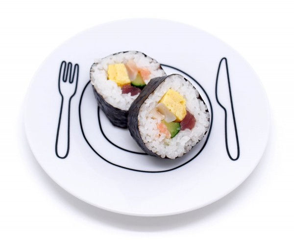 02_Plate-Plate_white-medium_sushi-roll