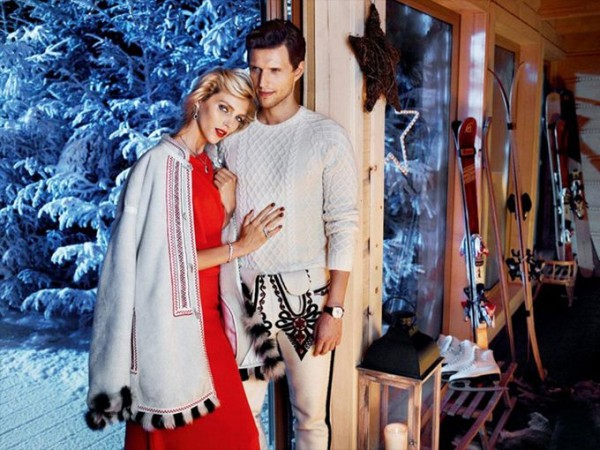 Anja Rubik in a Christmas photoset