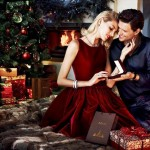 Supermodel Anja Rubik Cozies up to Husband in Apart's Christmas 2013 Ads