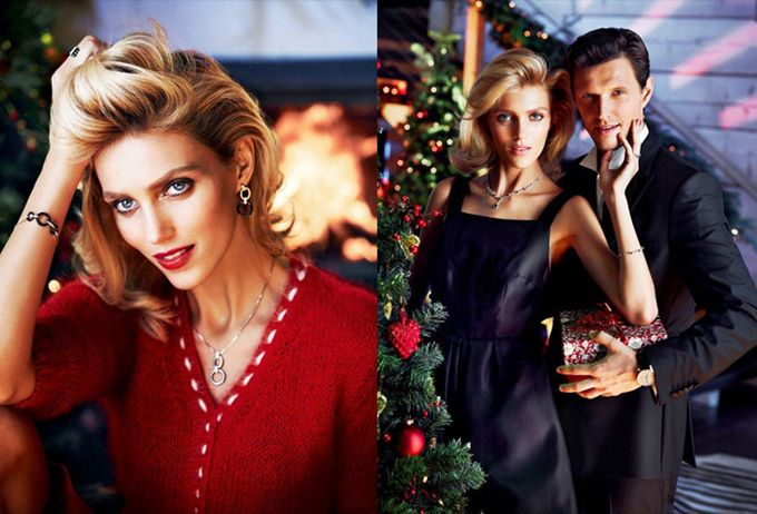 Anja Rubik Cozies up to Husband in Apart's Christmas 2013 Advertising