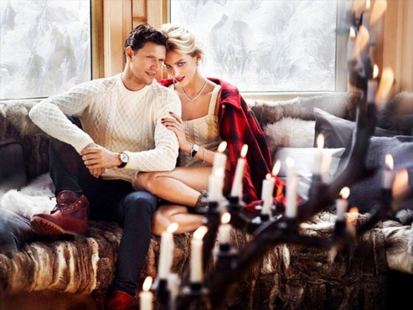 Anja Rubik & Sasha Knezevic for Apart Christmas 2013