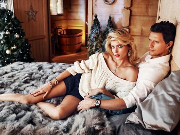 Anja Rubik & Sasha Knezevic for Apart Christmas 2013