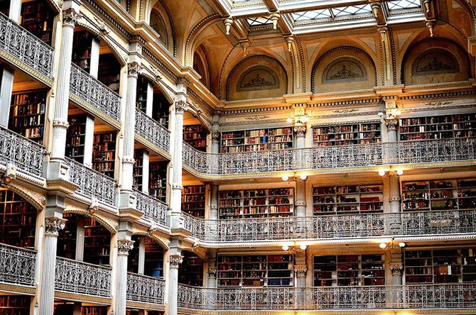 George Peabody Library at Johns Hopkins University in Baltimore, USA