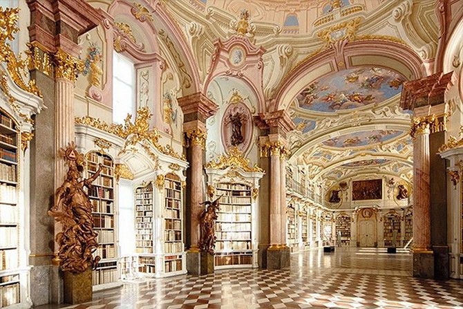 Library Admont Abbey in Austria 2