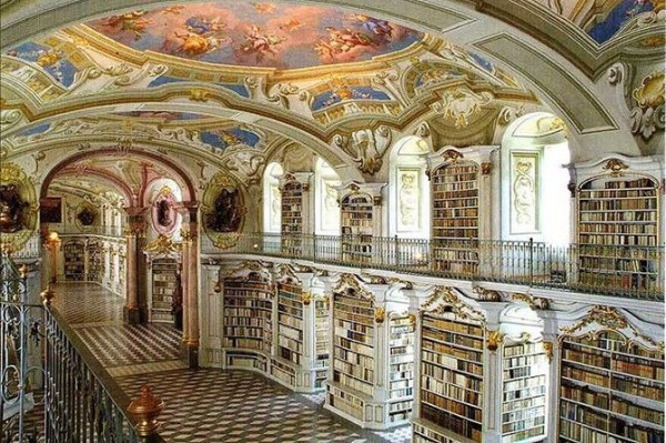 Library Admont Abbey in Austria