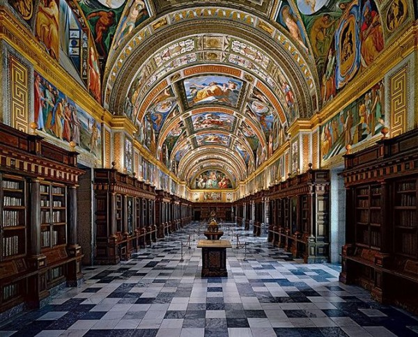 Library of El Escorial in Madrid, Spain