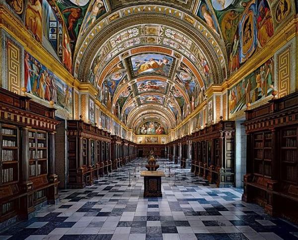 Library of El Escorial in Madrid, Spain