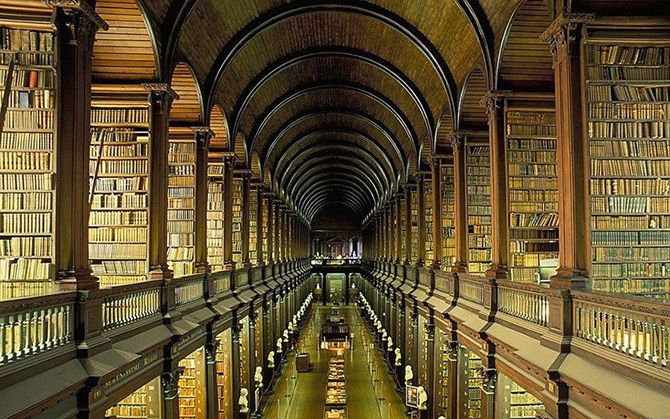 Library of Trinity College in Dublin, Ireland
