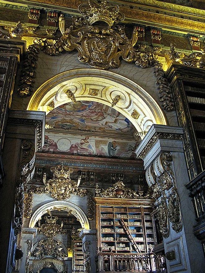 Library of the University of Coimbra in Portugal
