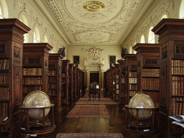Queens College Library at Oxford University, England