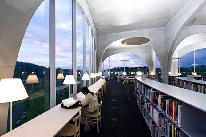 Tamm Art University Library in Tokyo, Japan