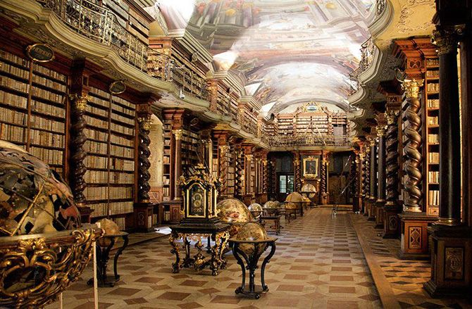 The National Library of the Bethlehem Chapel in Prague, Czech Republic