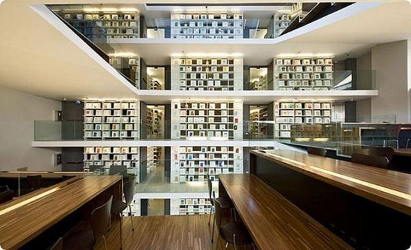 The Pontifical Lateran Library in Rome, Italy