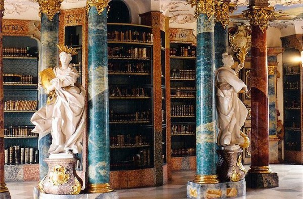 Wiblingen monastery library in Ulm, Germany 2