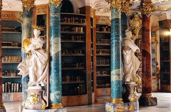 Wiblingen monastery library in Ulm, Germany 2