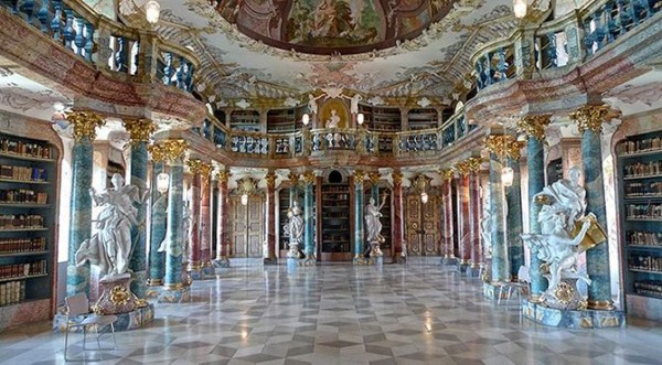 Wiblingen monastery library in Ulm, Germany