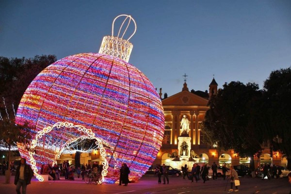Giant Christmas toy in Nice, France